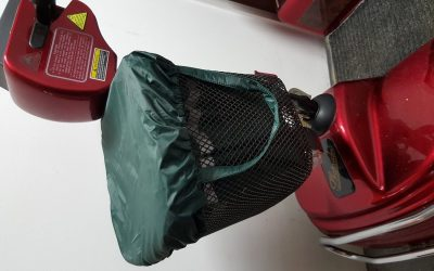 Mobility Scooter Waterproof Basket Bag and Cover. Coverandcarry