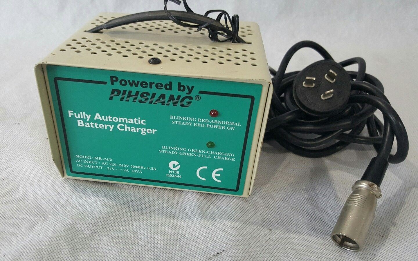 Mobility scooter battery charger 24v 2a 3pin lead acid for Electric motor shop near me